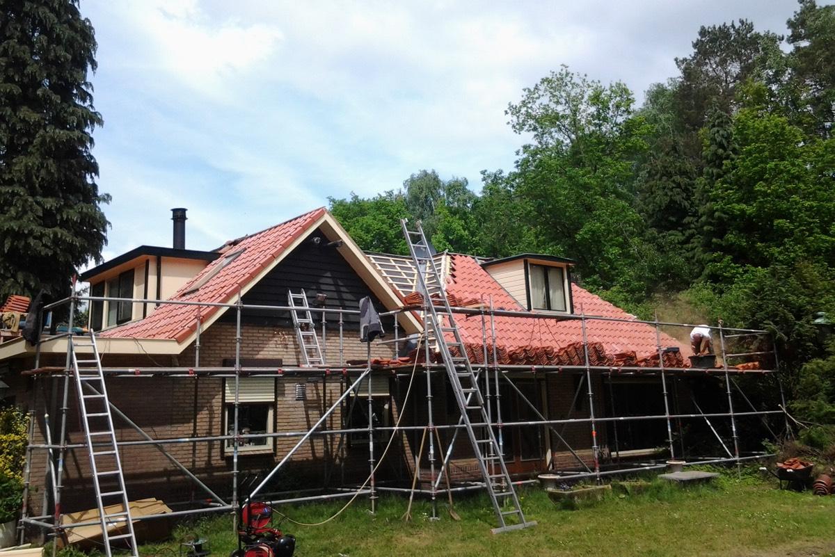 Werk in uitvoering renovatie dak
